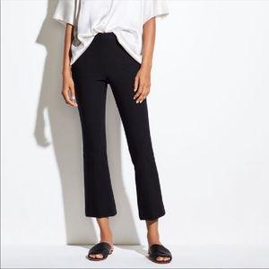 Vince Crop Flare Pant Black Size L Womens Orig $285 NEW